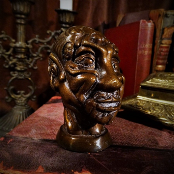Bronze Head Erotic Curio